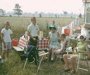 Camping on vacation to Montreal World's Fair, August 1967