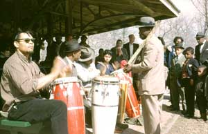 Conga jam, Druid Hill Park, Balitmore, MD, March 25, 1962