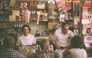 Visiting my aunt Mary Louise & uncle Arnold Guedes in their store, Elizabeth, New Jersey, August 12, 1965