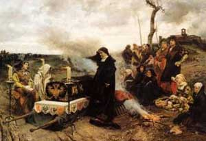 Doña Juana la Loca, oil painting on canvas by Francisco Pradilla Ortiz, 1877, El Prado