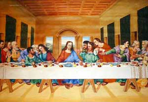 The Last Supper, oil painting on canvas by Emilio Fernández